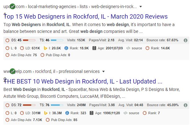 Website design rockford il search results