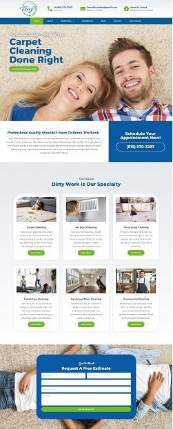 Carpet Cleaning Website Design
