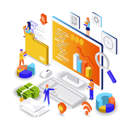 Website success website maintenance isometric concept