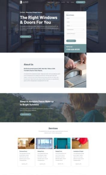 Window Installation Landing Page