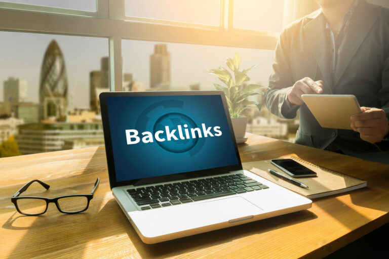 What are backlinks - laptop concept
