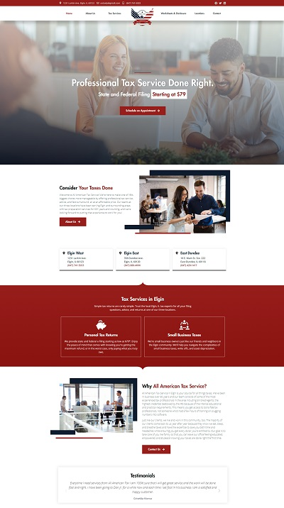 All american tax service web design