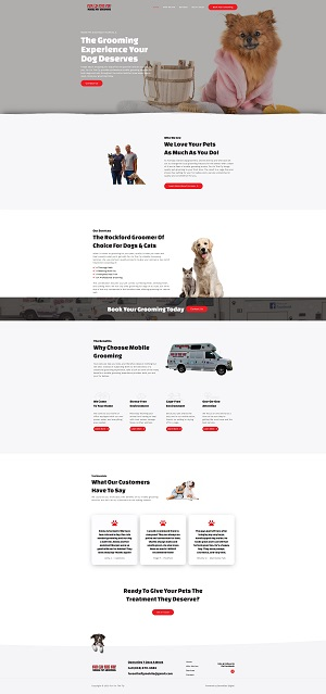 Fur on the fly mobile pet grooming website design