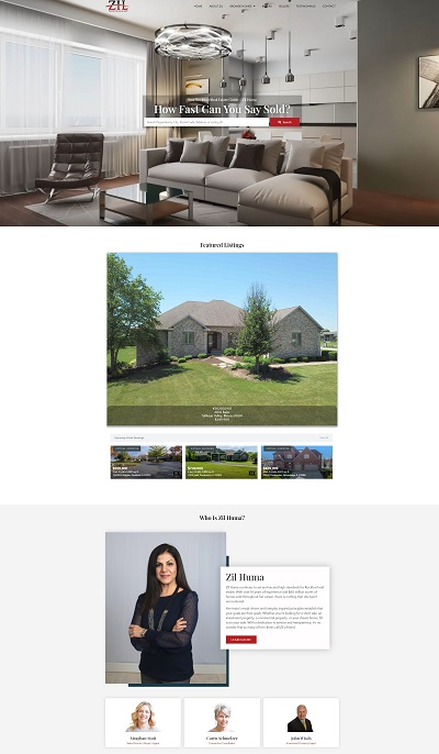 Zil huma - rockford realtor website design
