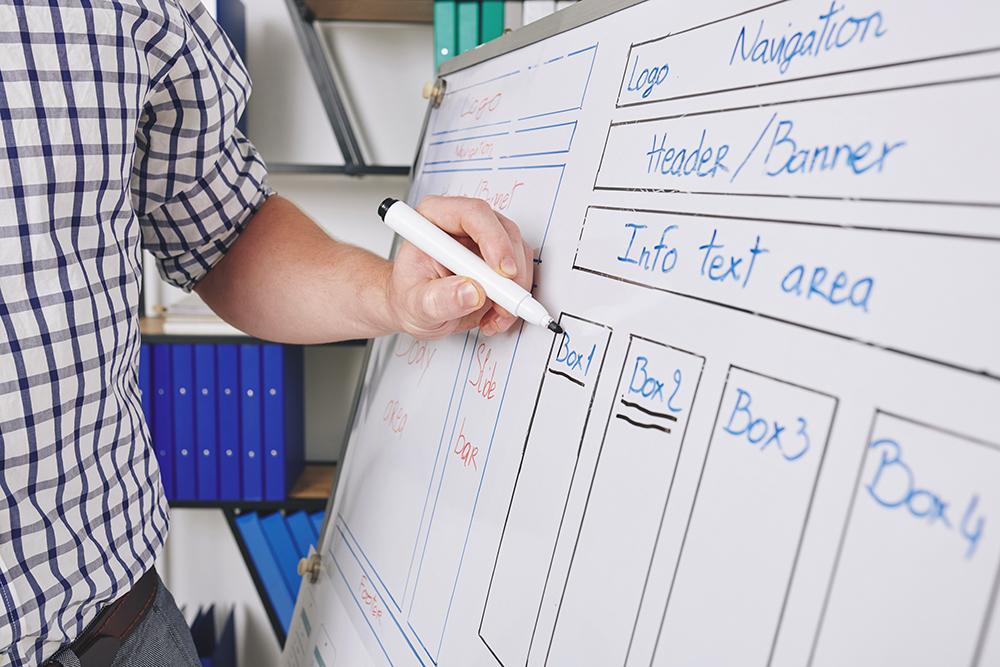 Ux designer describing website interface layout 6wwhrda