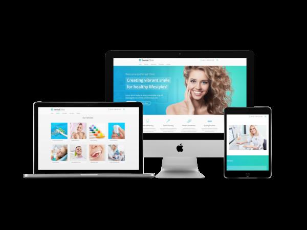 Free website audit - dental website design mockup