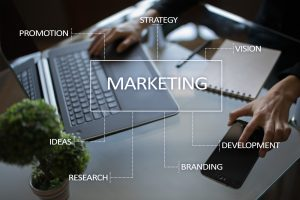 Marketing Campaigns - Marketing business concept on the virtual screen.