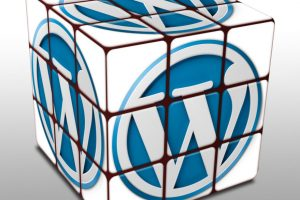 Rubiks cube with WordPress logo emphasizing wordpress website design concept